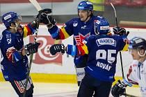 Liberec vyhrál v Českých Budějovicích 3:2 po nájezdech.
