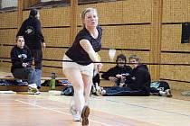 EVA DAVIDOVÁ. Na akademickém mistrovství vybojovala ve smíšené čtyřhře titul a ve čtyřhře žen navíc bronz.