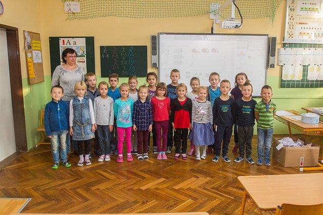 Prvňáci ze Základní školy Vrchlického vLiberci se fotili do projektu Naši prvňáci.