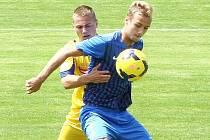 PREMIÉRA NEVYŠLA. Dorost Slovanu nezvládl úvodní zápas fotbalové extraligy U19. Na snímku zpracovává míč střelec jediné branky Liberce Dudek.