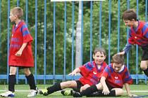 RADOST. Habartičtí kluci v kategorii 1. 3. tříd porazili ZŠ Špičák Česká Lípa gólem v poslední vteřině 1:0.