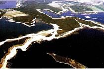 Lužická krajina plná jezer,  kdysi důlní oblast.