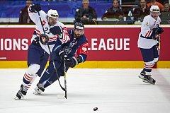 Tygři se Švédy brali jen bod. Na snímku je vpravo Lukáš Vantuch.