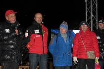Nejznámější český horolezec Radek Jaroš a vdovy po zemřelých účastnících akce Peru 68 Eva Novotná a Milada Raslová.