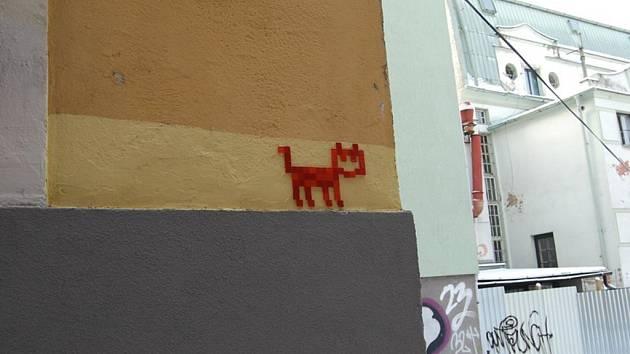 Mozaiky koček po celém Liberci.