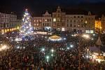 Rozsvícení vánočního stromu v Liberci.