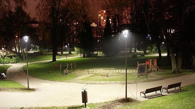 Tyršův park v Jablonci nad Nisou.