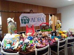 Bazar v dobrovolnickém centru ADRA v Nádražní ulici.