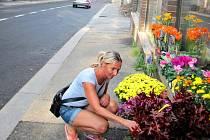 OBCHODNÍCI TRPĚLI. Také květinářství zápasilo s odlivem zákazníků během čtvrt roku trvající uzavírky Rumjancevovy ulice.