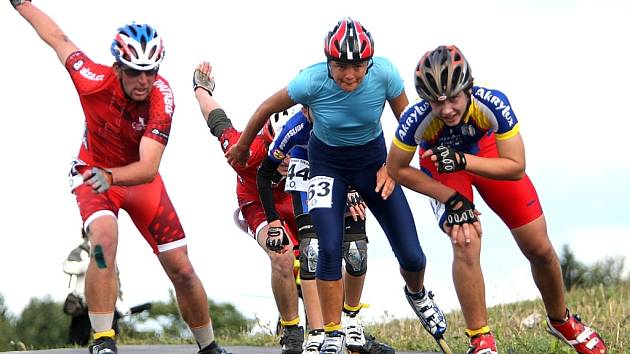 Závodů Bohemia Inline ve Vesci se zúčastnilo na 180 závodníků.