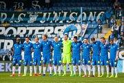 Utkání Slovanu Liberec (v modrém) proti Bohemians Praha 1905