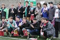 VÍTĚZOVÉ . Studenti SPŠSE Liberec zvítězili v krajském finále fotbalového Poháru Josefa Masopusta.