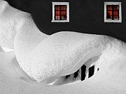 Zima v Albrechticích.