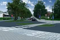 Takhle by měl v budoucnu vypadat prostor před vlakovým nádražím v Chrastavě.