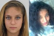 Pohřešovaná třináctiletá Sabina Kačániová (vlevo) a čtrnáctiletá Michala Hugrová (vpravo). Policie po dívkách z Liberce vyhlásila celostátní pátrání.