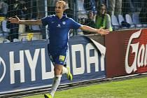 ODVETY se hrají příští čtvrtek. Na snímku radost libereckého střelce Lukáše Pokorného po vítězném gólu.