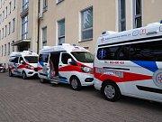 Nemocnice Liberec má od začátku listopadu 2019 další tři nové sanitky.