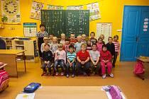 Prvňáci ze Základní školy Dolní Řasnice se fotili do projektu Naši prvňáci.