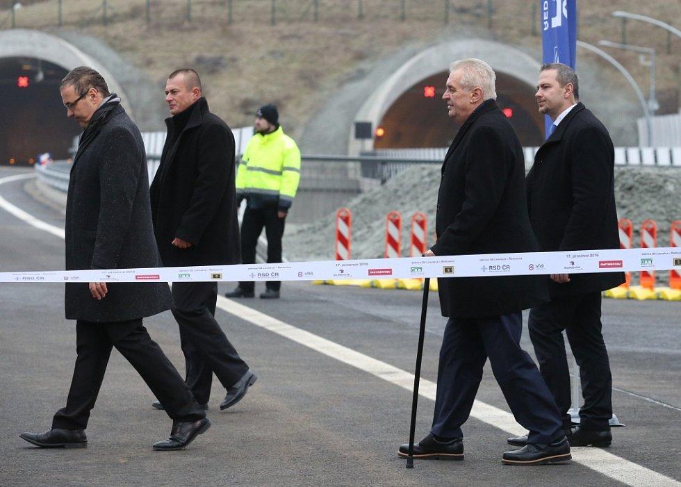Slavnostní otevření dálnice D8.