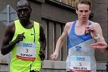 PŮLMARATON. Vpravo liberecký běžec Pavlišta a s ním Keňan Kiprop.