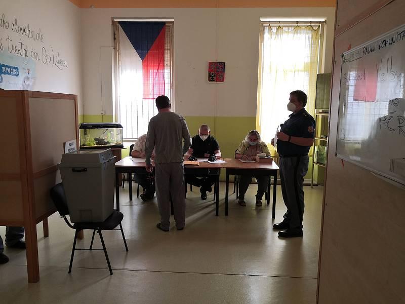 Volby ve Vazební věznici Liberec.