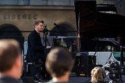 Pablo Held Piano Trio vystoupili se svým koncertem 13. července v rámci hudebního festivalu Bohemia Jazz Fest v Liberci. Na snímku Pablo Held.