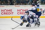 Utkání 46. kola WSM ligy ledního hokeje se odehrálo 3. února v liberecké Home Credit areně. Utkaly se celky HC Benátky nad Jizerou a Rytíři Kladno. Na snímku v bílém je Tomáš Hanousek.