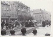 Průjezd okupačních vojsk Frýdlantem v srpnu 1968.