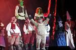 Slavný muzikál Shrek oživí Home Credit arenu v Liberci.