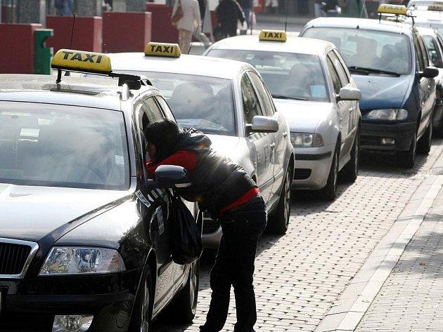 Liberečtí taxikáři. Ilustrační foto
