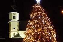 Vánoční strom v Bílým Kostele