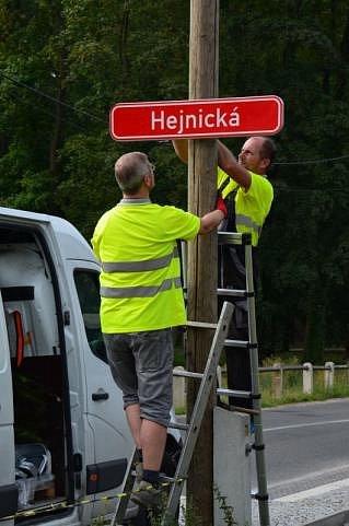 Nové značení ulic Frýdlantu je ukonce.