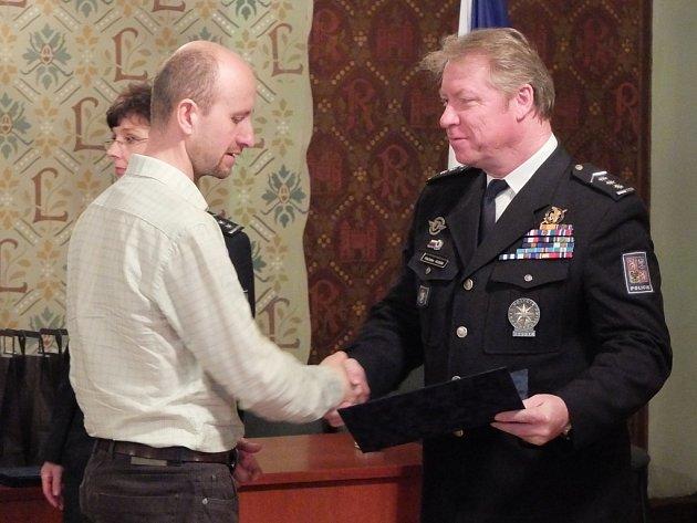 Tomáš Cýrus byl jedním z mála oceněných, kteří nejsou v řadách policistů.