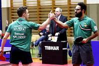 Stolní tenisté z Liberce Samuel Kalužný a Mohamad Shouman