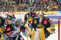 Brankář litvínovské Vervy Michael Petrásek přispěl k výhře 2:1 v derby na ledě Chomutova 27 úspěšnými zákroky.