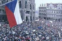 Sametová revoluce v Liberci.