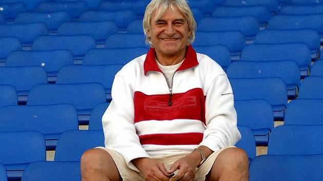 Trenér Slovanu Ladislav Škorpil.