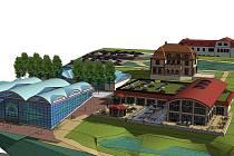 Vizualizace budoucích termálních lázní v Chrastavě