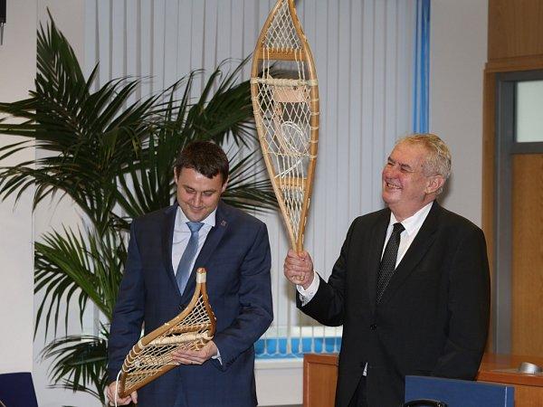 Sněžnice pro prezidenta Miloše Zemana.