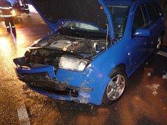 Nehoda osobního automobilu v Jeřmanicích na Liberecku