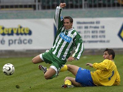 Ilustrační fotografie - Tomáš Majer (vlevo) v zápase Bohemians Praha x Slovan Varnsdorf Tomáš Majer, Bohemians Praha, Slovan Varnsdorf