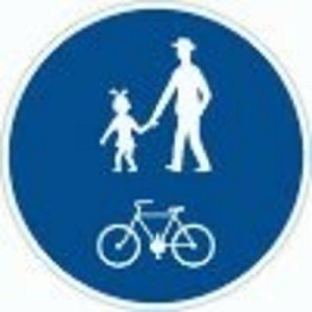 Stezka pro chodce a cyklisty.