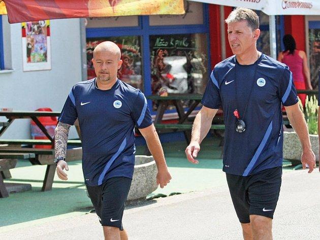 Jaroslav Šilhavý a jeho nový asistent Chytrý