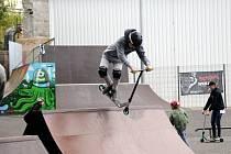 Skatepark v Barvířské se po zimě otevřel.