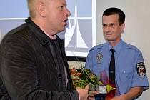 LIBERECKÝ STRÁŽNÍK VÁCLAV BOHÁČEK převzal ocenění za příkladné poskytnutí první pomoci.