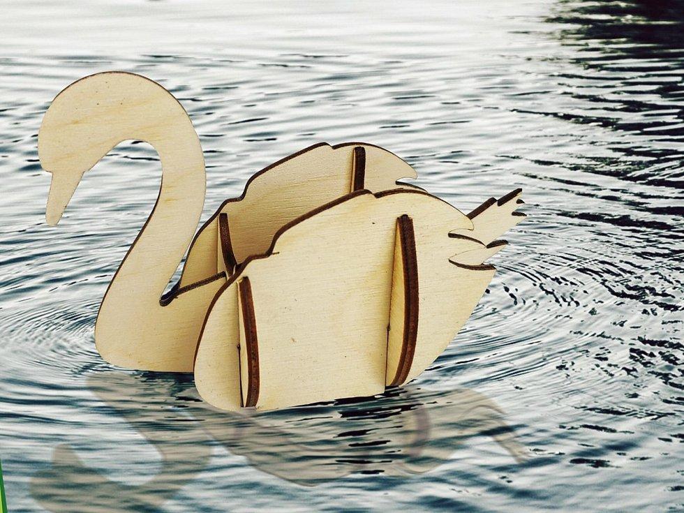 Příroda 3D - labuť.