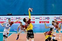 Liberečtí volejbalisté vyhráli v Ostravě 3:1 a čtvrtfinálovou sérii srovnali na 2:2.