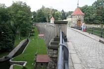 Harcovská přehrada v Liberci.