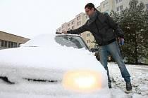 První sníh na Liberecku
