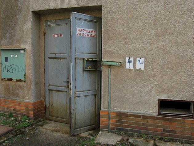 Stará kotelna je volně přístupná.